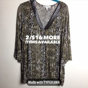 2/$16 Marisa Christina | Patterned Blouse